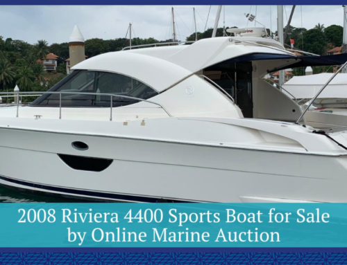 2008 Riviera 4400 Sports Boat for Sale by Online Marine Auction