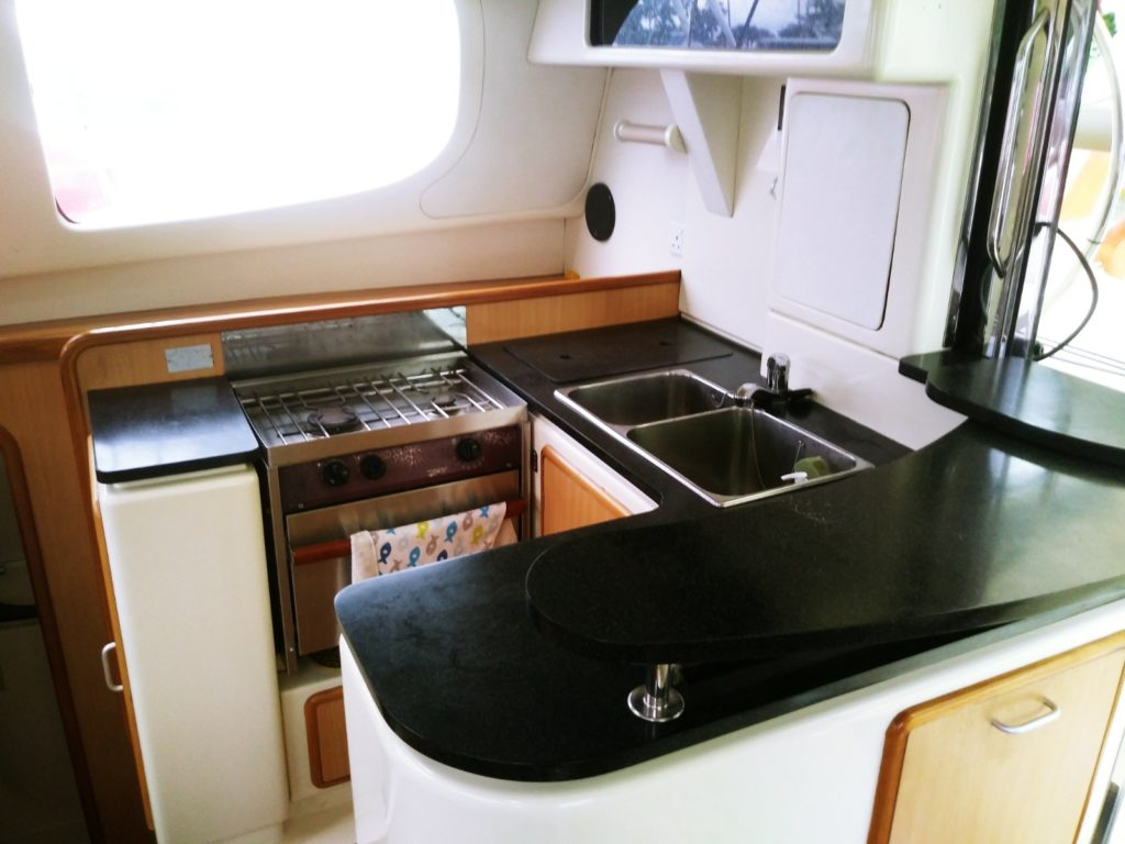 2005 Leopard Sailing Catamaran - Galley
